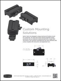 Custom Mounting Solutions brochure