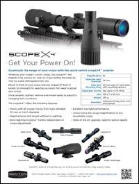 scopeX2 magnifies current range exactly 2x